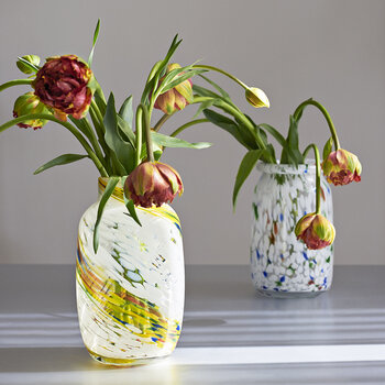 Splash Swirl Vase - Lemon