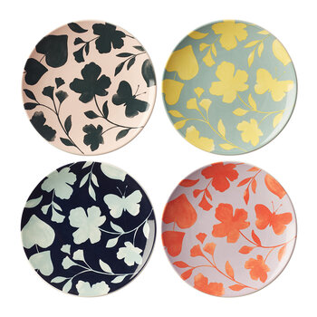 Petal Lane Accent Plate - Set of 4