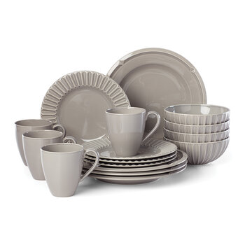 Tribeca 16 Piece Dinner Set - Platinum