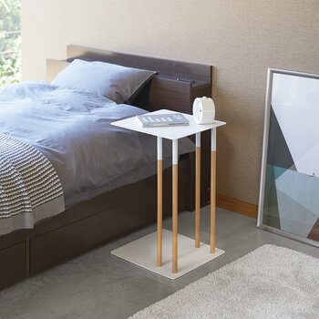 Plain Side Table - White