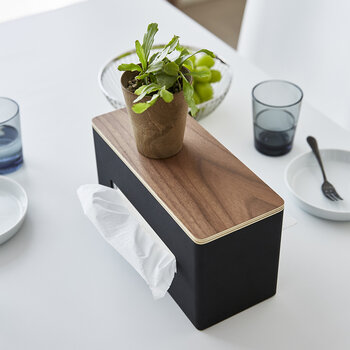 Rin Double Sided Tissue Box - Brown