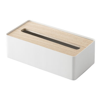 Rin Tissue Box with Lid - Natural