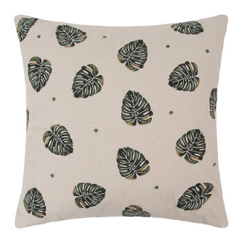 Jungle Leaf Pillow - 45x45cm - Natural