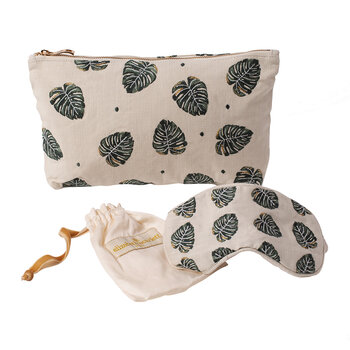 Jungle Leaf Eye Mask - Natural