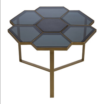 Flower Coffee Table - Gold/Black