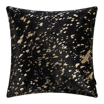 Metallic Acid Cowhide Pillow - 45x45cm - Black/Gold