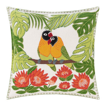 Tropical Love Birds Pillow