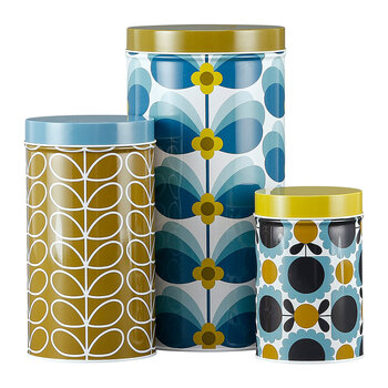 Butterfly Stem Nesting Canister Tins - Set of 3
