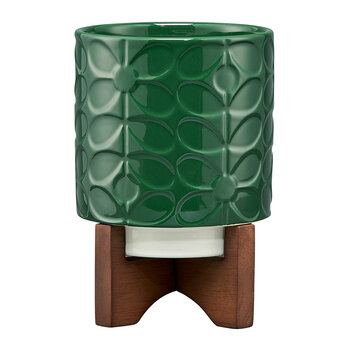 Sixties Stem Ceramic Pot - Jade