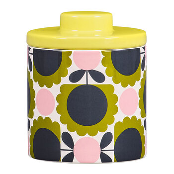 Storage Jar - Large - Scallop Flower Forest