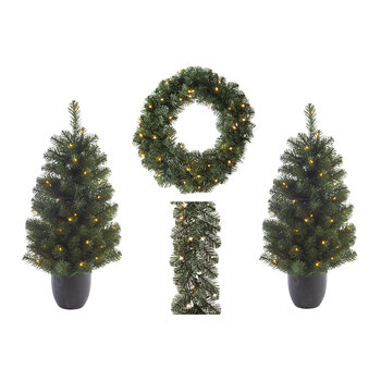 Imperial Tree/Wreath/Garland - Set of 4