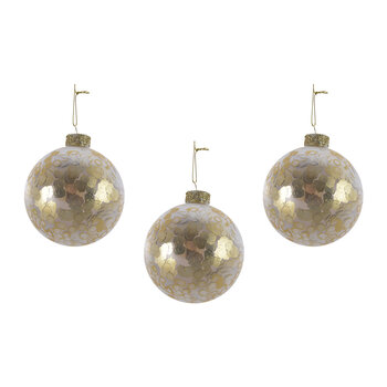 Sequin Bauble - Set of 3 - Light Gold