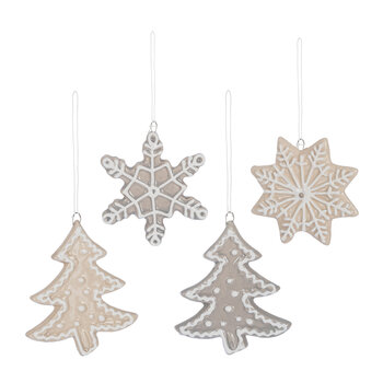 Festive Cookie Tree Decoration - Set of 4
