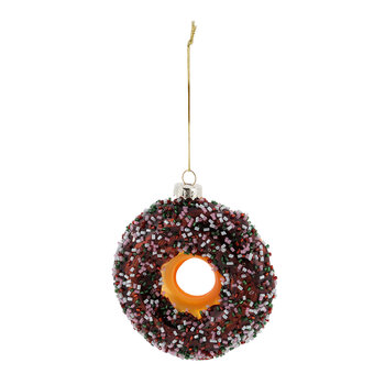 Ring Doughnut Glass Tree Decoration