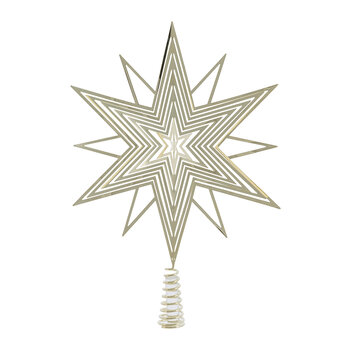 3D Star Tree Topper - Gold