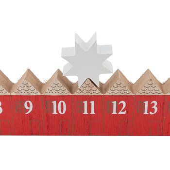 Wooden Star Roll Along Advent Calendar
