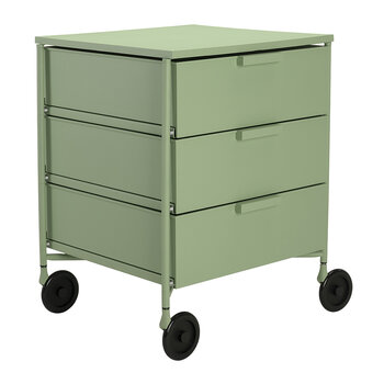 Mobil Mat 3 Drawer Wheels - Pale Green