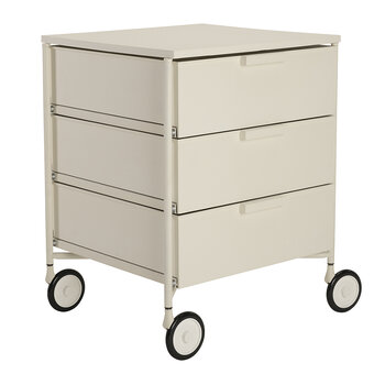 Mobil Mat 3 Drawer Wheels - White