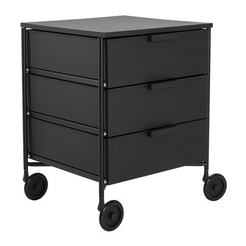 Mobil Mat 3 Drawer Wheels - Black