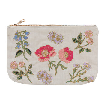British Blooms Cotton Travel Pouch - Natural