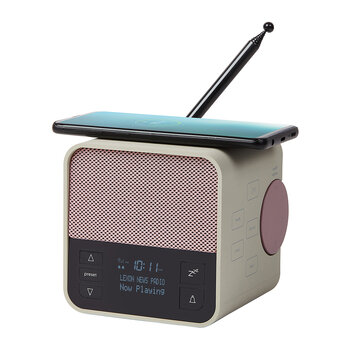 Oslo News Radio - Light Grey/Pink