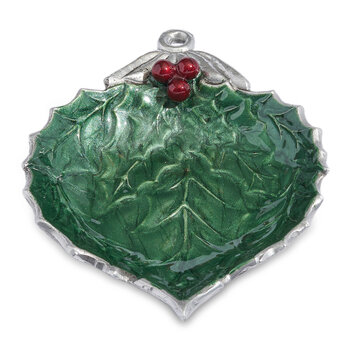 Holly Sprig 3 Part Serving Dish - Emerald