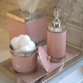Cascade Covered Canister - Pink Lace