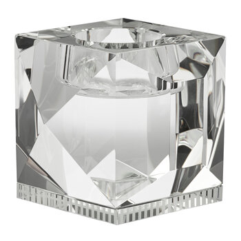 Ophelia Crystal Tealight Holder - Clear