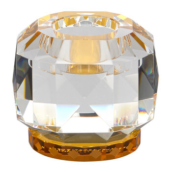 Texas Crystal Tealight Holder - Clear/Amber
