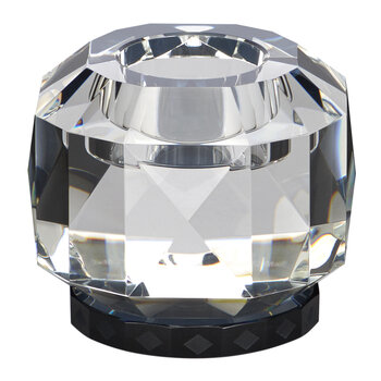 Texas Crystal Tealight Holder - Clear/Black