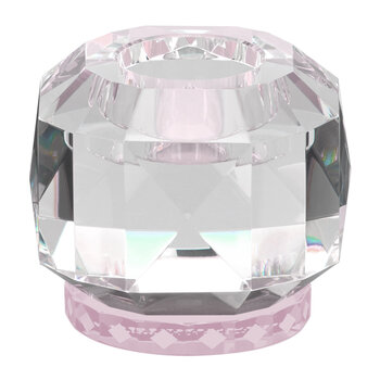 Texas Crystal Tealight Holder - Clear/Rose