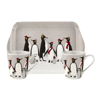 Christmas Penguin Mug and Tray Set