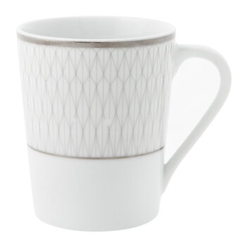 Prism Porcelain Mugs - Set of 4 - Platinum