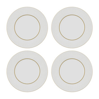 Prism Porcelain Side Plates - Set of 4 - Gold