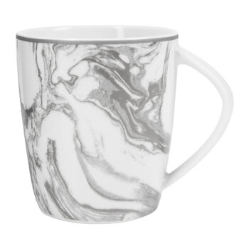 Gunnison Porcelain Mugs - Set of 4 - Silver