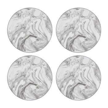 Gunnison Porcelain Side Plates - Set of 4 - Silver