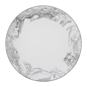 Gunnison Porcelain Dinner Plates - Set of 4 - Silver