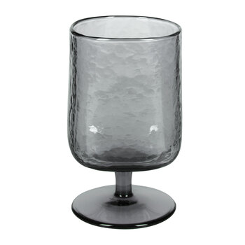 Hammered Wine Glasses - Set of 6 - Gray