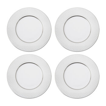 Prism Porcelain Side Plates - Set of 4 - Platinum