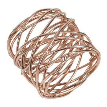 Woven Copper Napkin Rings - Set of 4