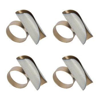 Ivory Curl Napkin Ring - Set of 4
