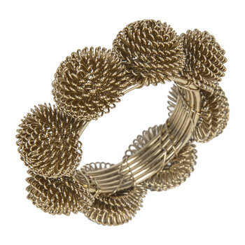 Domed Wire Napkin Rings - Set of 4 - Gold