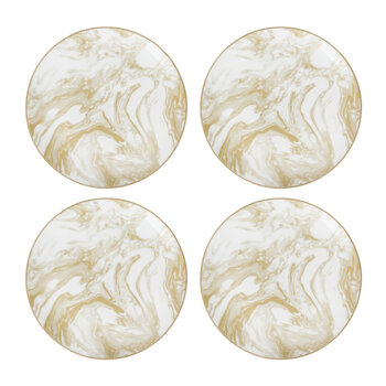 Gunnison Porcelain Side Plate – Set of 4 - Gold