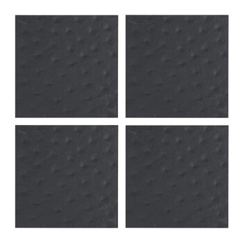 Toulon Recycled Leather Coasters - Set of 4 - Coal