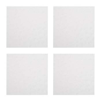 Emu Recycled Leather Coasters - Set of 4 - White