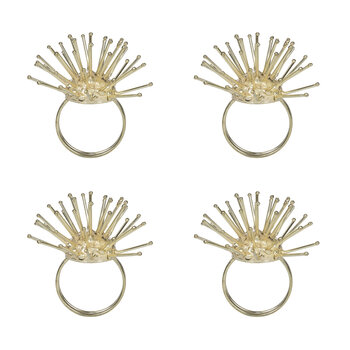 Spikey Gold Napkin Rings - Set of 4