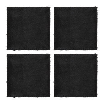 Cowhide Coasters - Set of 4 - Black