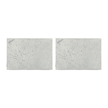Metallic Acid Cowhide Placemats - Set of 2 - Silver