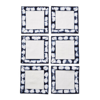 Serviettes à Cocktail - Lot de 6 - Shibori