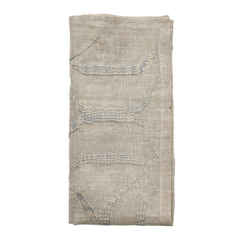 Variegated Napkin - Natural/Grey